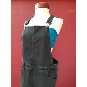 AEO Distressed Jegging Overalls VSCO Short Fall